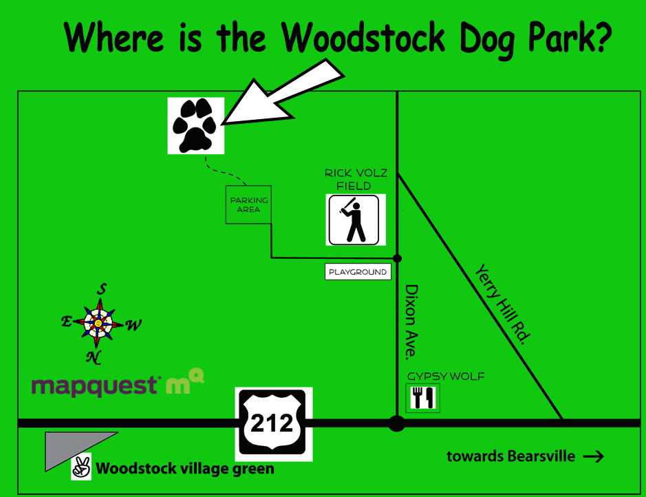 directions to Woodstock Dog Park